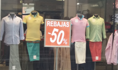 Escaparate en rebajas